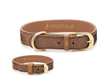 Glitter Bronze Friendship Collar- A collar for your pet and a matching bracelet just for you! Because best friends should match!