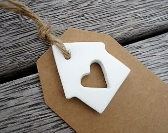 Gift Tags with little Clay Ornaments - Set of 4