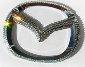 Bling MAZDA sticker with crystals / MAZDA emblem/ bling car logo / bling mazda logo / bling mazda emblem / mazda key fob