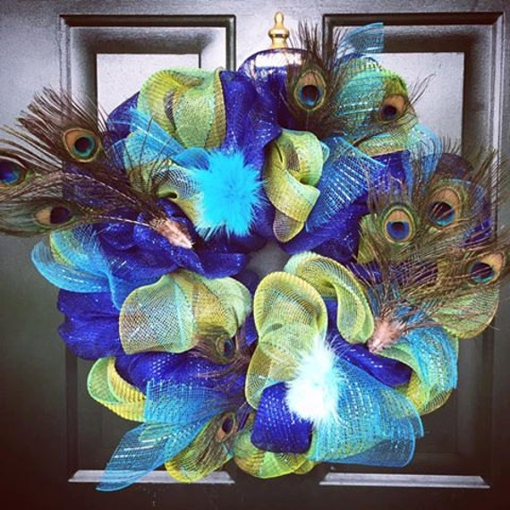 Peacock Inspired Home Decor Wreath Peacock By