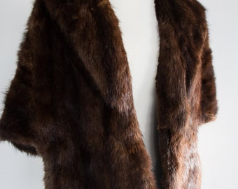 Vintage 1950's Ditmars Fur Shop Inc. Fur Cape - The Great Gatsby - Free Size