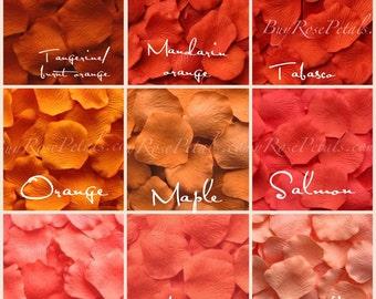 2,000 Orange Rose Petals - Silk Rose Petals
