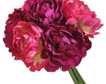 Peony Silk Wedding Bouquet - Silk Flower Wedding Bouquet