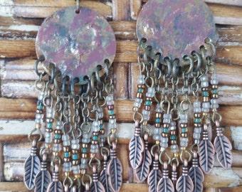 Bohemian statement earrings