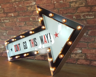 Lightbox Arrow Sign