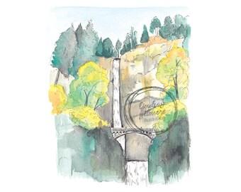 7 Wonders of Oregon: Columbia River Gorge print