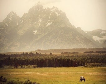 "Teton Mountains, Wyoming Photographic Print, ""Stormy Tetons"""