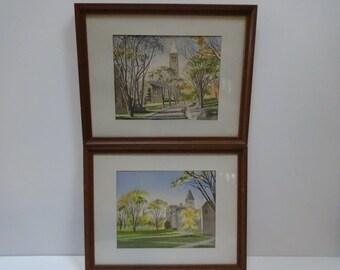 Prints, Set of Prints, Framed Art Prints, Framed Watercolor Prints, Architectural Prints, Framed Architectural Prints, Framed Art