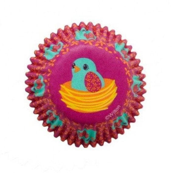 100 Wilton Mini Baking Cups Easter Birds Cupcake Cupcake