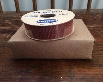 Vintage Rust Micro Dot Ribbon