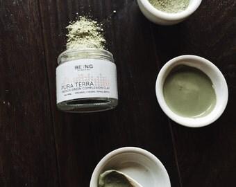 Organic/Vegan Face mask: Pura Terra Complexion clay - French green clay