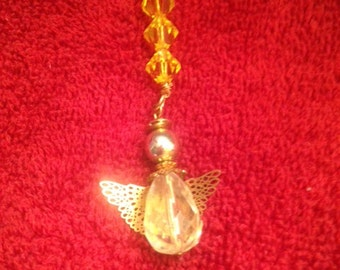 Angel with citrine swarovksi stones