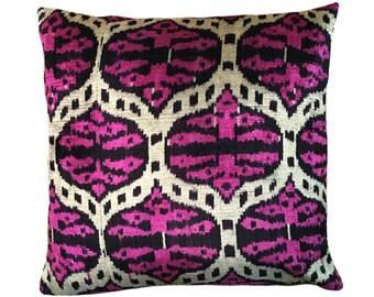 Woven Silk Ikat Pillow