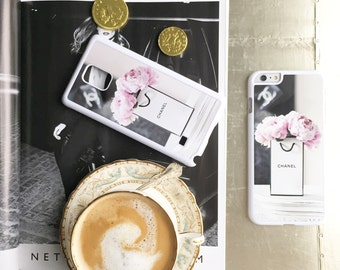 Chanel peonies Samsung Galaxy phone case