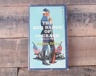 SALE*** Vintage 'Red Badge of Courage' Paperback from the 1960s - by Stephen Crane with Beautiful Cover Art. Classic / Vintage Paperback.