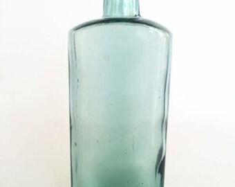 Antique Aqua Glass Bottle