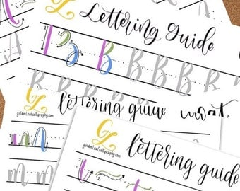 Cat Style lettering guides - Upper & Lowercase