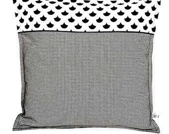 Graphic black and white cushion