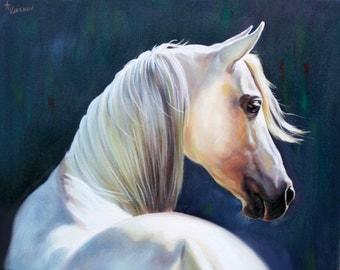 Custom horse painting, Oil Portrait,custom portrait,portrait from photo, original portrait,animal portrait,fine art,handmade, horse portrait