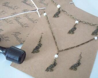 Handmade Bird Charm Jewellery Set
