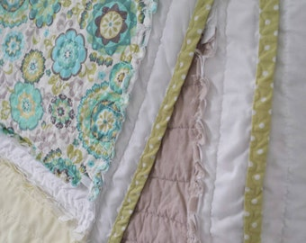Block Rag Quilt - throw