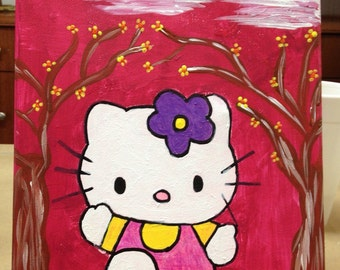 Hello kitty in the spring