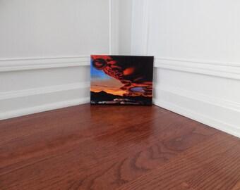 Acrylic Lenticular Cloud Sunset Painting