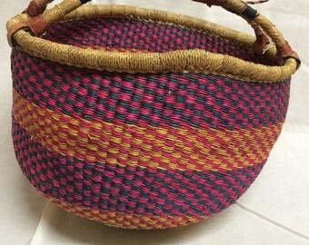 ghanian basket handcrafted