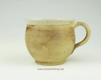 Ceramic Cup small bulge earthy