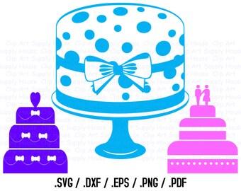 Wedding SVG, Wedding Clipart, Wedding Cake SVG File for Vinyl Cutters, Birthday Cake Svg, Wedding Silhouette, Wedding Cricut - CA215