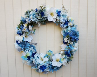 Shades of Blue Wreath