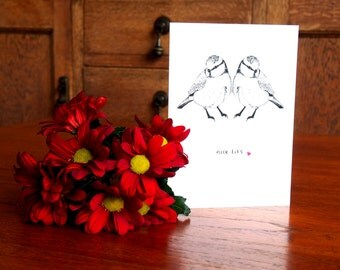 Nice Tits - Greetings Card, Anniversary Card, Love Card, Valentines Card, Note Card, Birthday Card for her