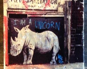 I Am A Unicorn Graffiti Coaster or Decor Accent