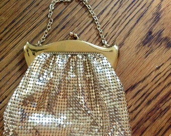 Whiting and Davis Gold Mesh Handbag