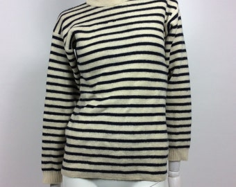 Vintage TRICOMER marine stripe pullover