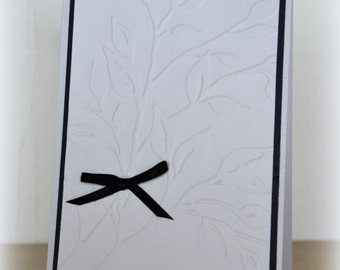 Condolence card / simple and elegant mourning envelope provided