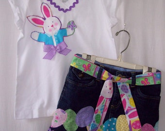 Custom boutique Easter Bunny Egg skirt & shirt set most sizes available