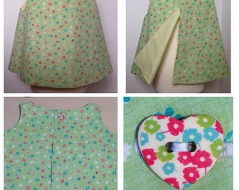 Pretty Green Floral Top/Pinafore dress  and Bloomer Shorts set age 12months.
