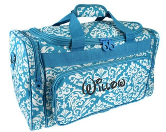 Monogram Diamond Damask Turquoise Duffle Bag