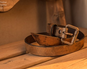 Leather Belt | Handmade Leather Belt | Coffee Brown Leather Belt | Made in the USA