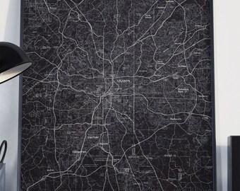 Atlanta, GA Map Poster 11x17 18x24