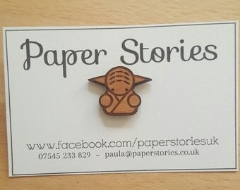 Yoga pin badge