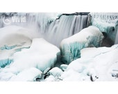 Winter Landscape, Niagara Falls, matted prints, waterfall wall decor, ice wall print, fine art photo, winter snow picture, office decor