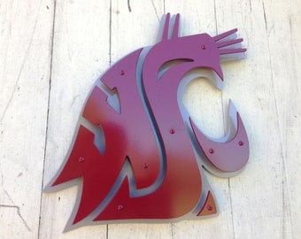 "Washington State Univsersity (WSU) metal sign - 18"" x 18"""