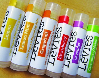 Vegan lip balm; choose your own flavor