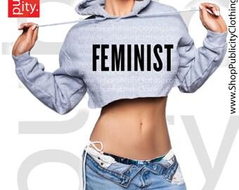Feminist Cropped Hoodie