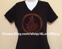 Divergent Dauntless Faction Rhinestone T-Shirt