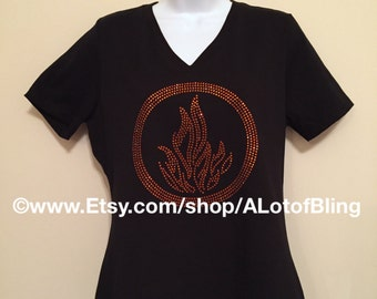 Divergent Dauntless Faction Rhinestone T-Shirt
