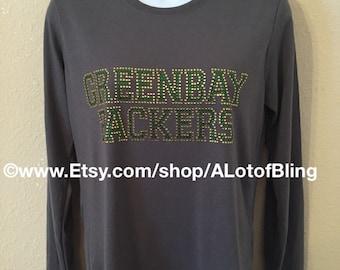 Greenbay Packers rhinestone shirt