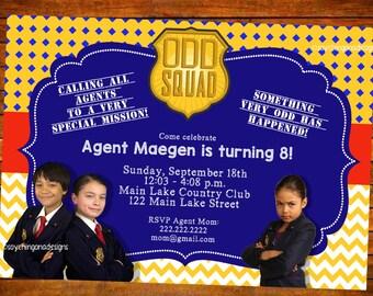 Oddsquad Odd Squad Personalized DIGITAL or PRINTED Invitation